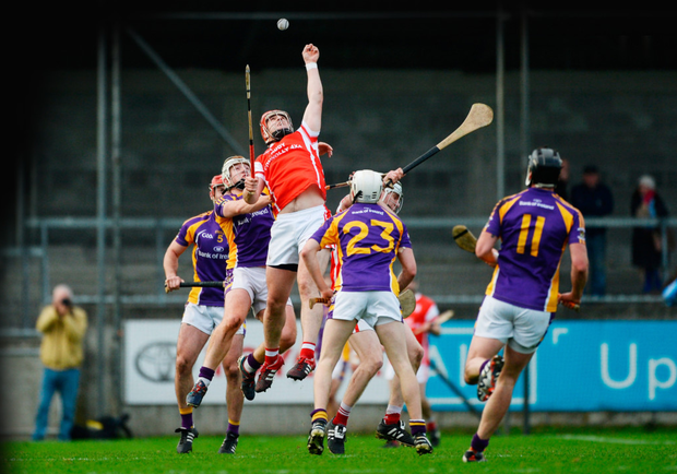 David Treacy of Cuala in action against Kilmacud Crokes during the Dublin Senior Hurling final at Parnell Park on Saturday. Pic: Sportsfile
