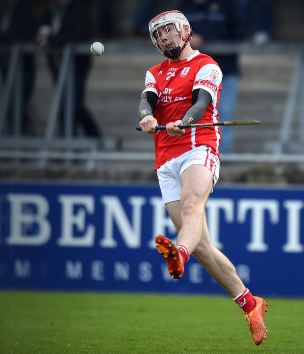 Cuala's Con O'Callaghan who scored all four goals for his side, in action during the Leinster SHC Club quarter-final against Borris-Kilcotton at Parnell Park. Photo by Cody Glenn/Sportsfile