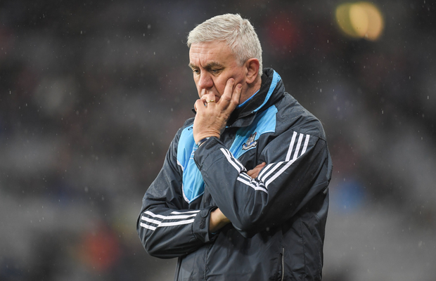 Dublin manager Ger Cunningham looks deep in thought during last Saturday's NHL Division 1A loss to Waterford in Croke Park. Pic: Sportsfile