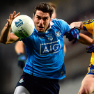 Dublin's Bernard Brogan in action against Roscommon's Conor Devaney