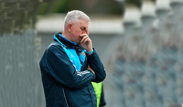 Dublin manager Ger Cunningham during the second half of yesterday's Allianz HL Division 1 relegation play-off at Cusack Park, Ennis.