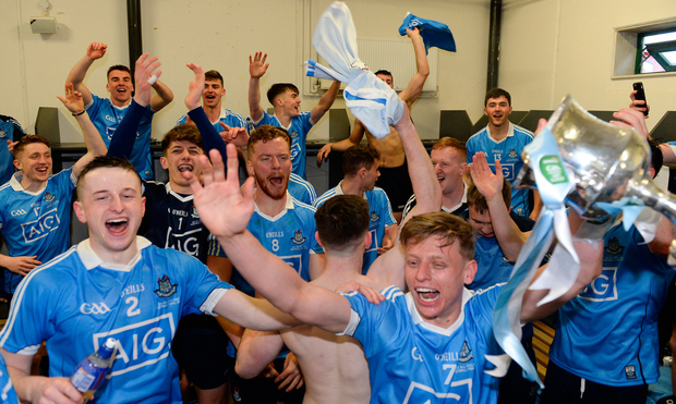 Dublin's U21 footballers celebrate after their All-Ireland final victory over Galway
