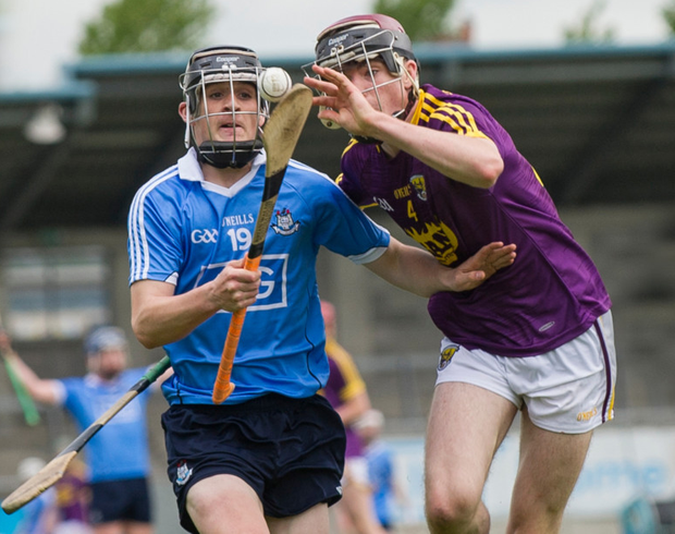 Dublin's Jason Byrne and Wexford's Cathal O'Connor in action in Saturday's Electric Ireland Leinster MHC semi-final
