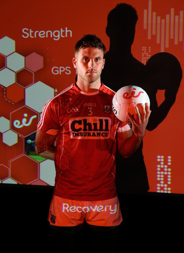 Cork's Eoin Cadogan at eir's launch of the 2017 All-Ireland SFC. Match day clips from all games will be available on eir social media channels throughout the Championship. Pic: Sportsfile