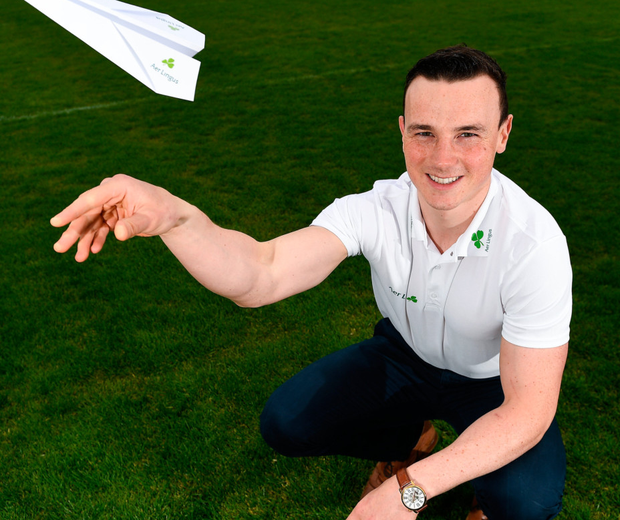 Liam Rushe at Parnell Park as Aer Lingus, Official Airline of Dublin GAA, announced details of their Autumn transatlantic offers. Photo: Sportsfile