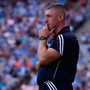 Westmeath manager Tom Cribbin watches from the sideline at Croke Park yesterday. SPORTSFILE