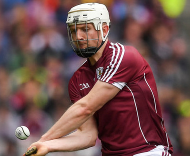 Galway's Joe Canning angles over his late, late winning point. Pics: Sportsfile
