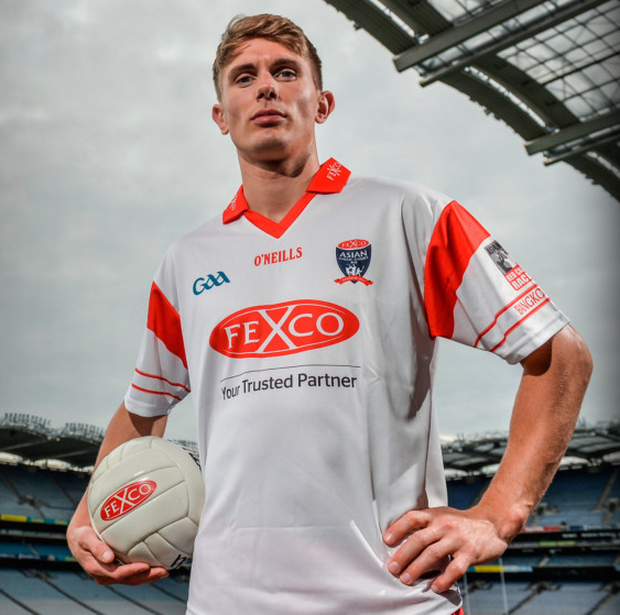 Dublin's Michael Fitzsimons lined out in Croke Park yesterday to officially launch the 22nd Annual Asian Gaelic Games sponsored again this year by FEXCO
