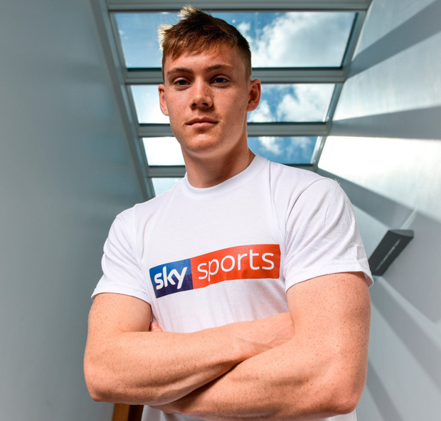 Dublin star Con O'Callaghan at the announcement by Sky Sports that it is partnering with the GAA on three major grassroots initiatives which will see the broadcaster invest a total of €3m over five years. Pic: Sportsfile