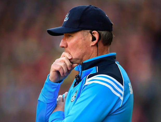 Dublin manager Jim Gavin looks on during the All-Ireland SFC Final against Mayo. Photo: Seb Daly/Sportsfile