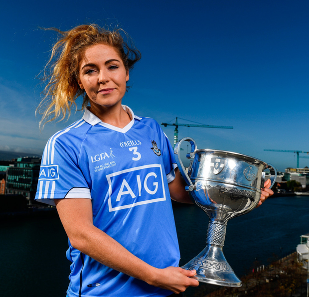 Dublin footballer, Sinéad Finnegan, at yesterday's AIG Insurance event