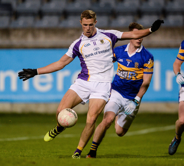 Kilmacud Crokes' Paul Mannion scores his wonder-goal against Castleknock in their Dublin SFC quarter-final. Pic: Sportsfile