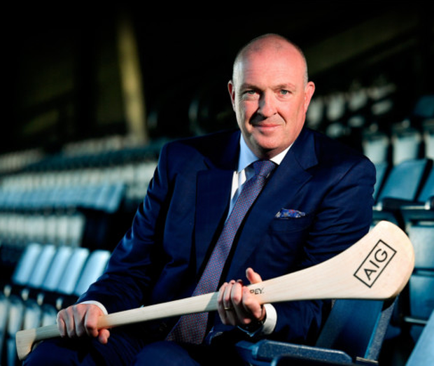 New Dublin hurling manager Pat Gilroy at Croke Park yesterday to launch the AIG Fenway Hurling Classic and Irish Festival, also supported by Aer Lingus
