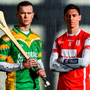 Kilcormac-Killoughey's Dan Currams and Cuala's Paul Schutte at yesterday's AIB Leinster Club SHC final launch. For exclusive content and behind the scenes action throughout the AIB Club Championships follow AIB GAA on Facebook, Twitter, Instagram and Snapchat