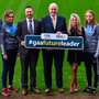 At the GAA's Future Leaders Transition Year Programme launch at Croke Park were Dean Rock (Dublin footballer), Ava Lynskey (Galway camogie), Eoghan Hanley (National Co-Ordinator of the Future Leaders programme), John Horan (GAA president-elect), Ciara O'Donnell (Director of the PDST), Ciara Trant (Dublin footballer) and Aidan Harte (Galway hurler)