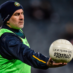 Offaly manager Stephen Wallace during the Bord na Móna O'Byrne Cup draw with Dublin at Parnell Park