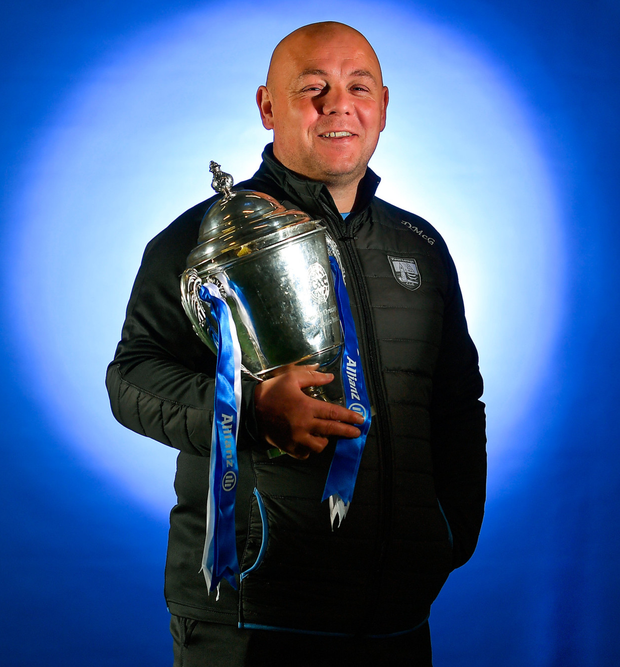 Waterford manager Derek McGrath at yesterday's Allianz Hurling League launch