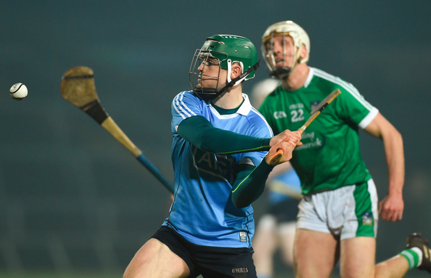 SHOT AWAY: Tomás Connolly of Dublin in action against Barry O'Connell of Limerick
