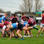 Players from both sides tussle during the Allianz Football League Division 1 match between Galway and Dublin at Pearse Stadium. Photo: Sportsfile