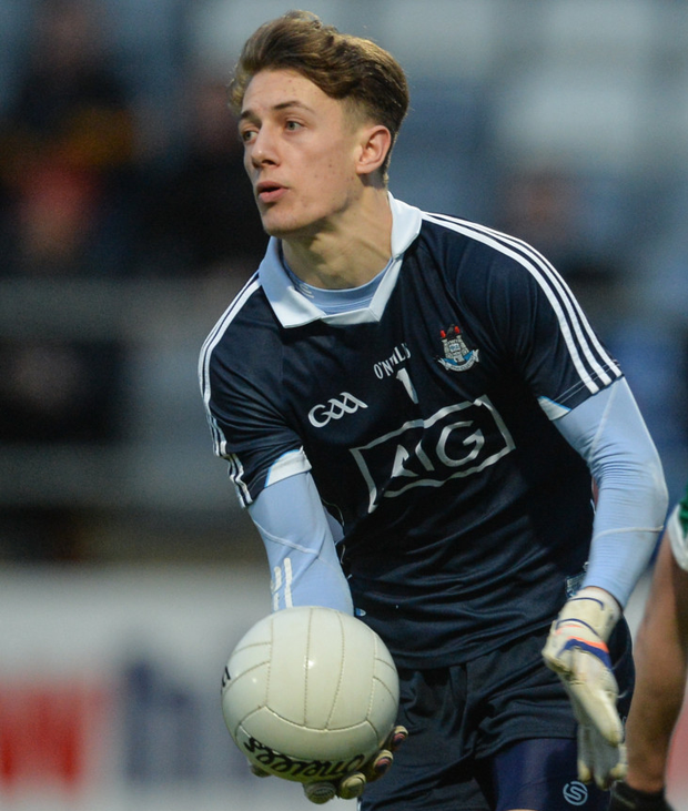 Evan Comerford, who has kept goals for the Dubs in their last two league games