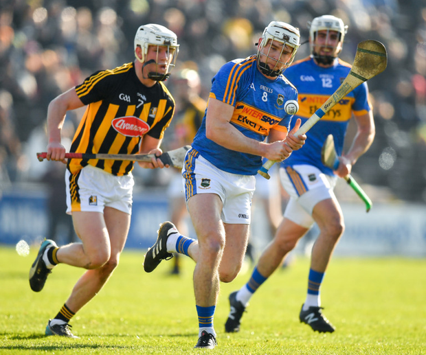 TOP CLASS: Tipp's Brendan Maher in action against Kilkenny's Conor Browne during their Allianz HL Division 1A Round 4 clash at Nowlan Park on February 25 Pic: Sportsfile