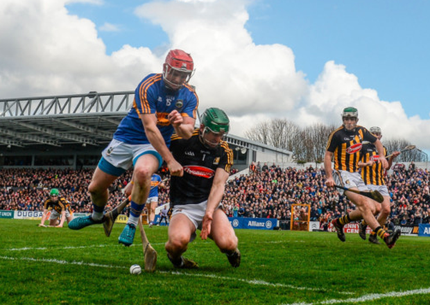 CLASH OIF THE ASH: Willie Connors of Tipperary in action against Kilkenny goalkeeper Eoin Murphy during the Allianz Hurling League Division 1 Final at Nowlan Park yesterday Pics: Sportsfile