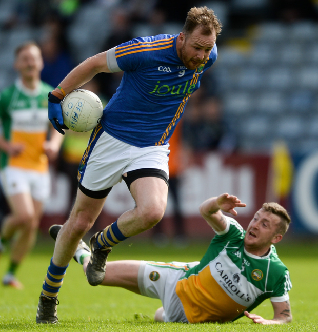 Wicklow's James Stafford gets away from Offaly's Craig Dunne during their Leinster SFC first round clash at O'Moore Park, Portlaoise two weeks' ago. Photo: Sportsfile