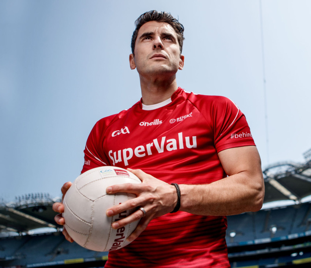ON THE MEND: Dublin footballer Bernard Brogan at Croke Park for the launch of SuperValu's #BehindTheBall campaign – an ambitious initiative tackling the lack of exercise among Ireland's families. For details see www.facebook.com/SuperValuIRL or SuperValu.ie Pic: Inpho