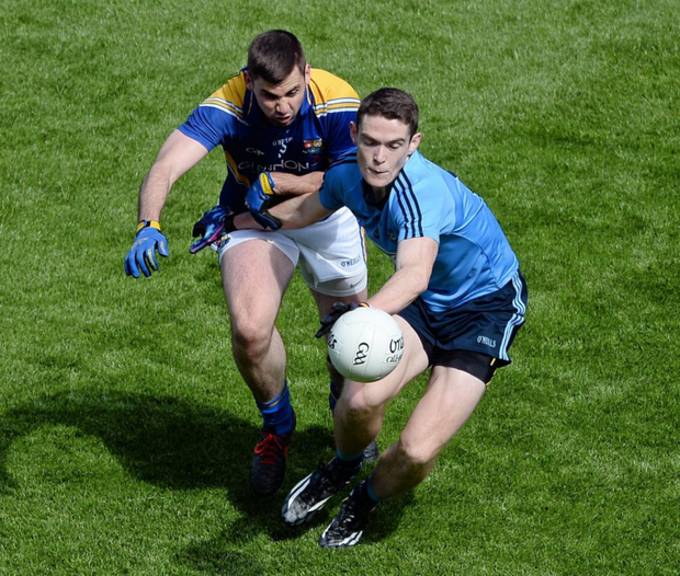 Start of an era: Brian Fenton in action against Longford's Kevin Diffley on his SFC debut back in May 2015