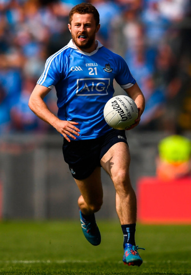 Comeback: Dublin's Jack McCaffrey goes on the attack during yesterday week's Leinster SFC semi-final victory over Laois