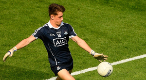 Evan Comerford in action for Dublin during the Leinster SFC semi-final against Longford at Croke Park recently