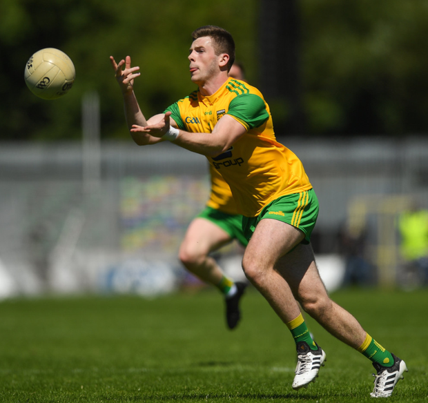 NEEDS WATCHING: Donegal's Eoghan Bán Gallagher and Ryan McHugh are very dangerous counter-attackers and can be expected to cause Dublin problems in tomorrow night's All-Ireland SFC quarter-final Group 2 Phase 1 clash at Croke Park Pics: Sportsfile
