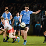 HEADING NORTH: Dublin's Brian Fenton in action against Tyrone In Healy Park, Omagh during last February's Allianz FL Division 1 clash. Photo: SPORTSFILE