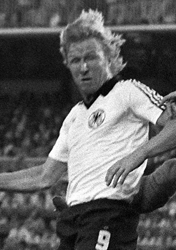 Infamous: Horst Hrubesch's goal against Austria for West Germany settled 'The Disgrace of Gijon' in 1982