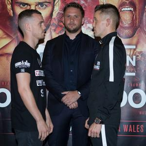 OPPORTUNITY: Dylan McDonagh (right) squares off against Welshman Sean McGoldrick in Cardiff tonight.