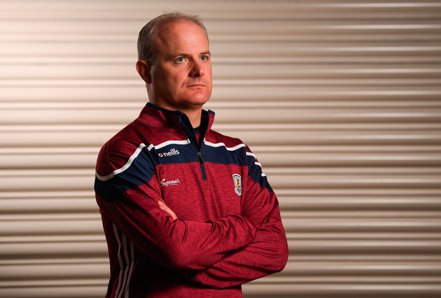 Galway senior hurling manager Micheál Donoghue at the Loughrea Hotel and Spa during yesterday's Galway Hurling Press Conference ahead of the All-Ireland SHC final. Photo: SPORTSFILE
