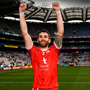 Ronan McNamee of Tyrone celebrates following the All-Ireland SFC semifinal win over Monaghan at Croke Park yesterday Pic: Sportsfile