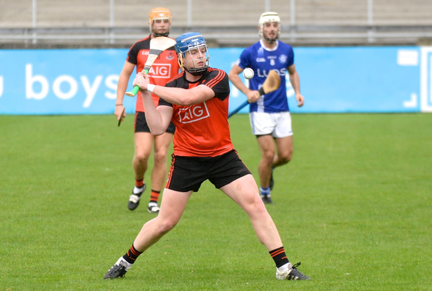 FREE ROLE: Ballinteer St John's Danny McCarthy fires over a free during Saturday's Dublin SHC 'A' Group 4 draw with Crumlin at Parnell Park. Photo: Justin Farrelly