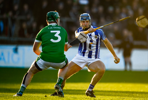 Cool customer: Ballyboden's Paul Ryan evades Coolderry's Trevor Corcoran of during Sunday's Leinster Club SHC semi