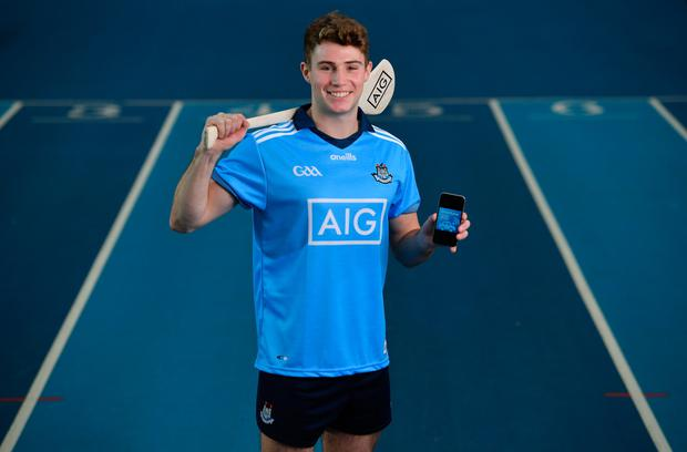 Jake Malone at the National Sports Campus to launch AIG's 'try before you buy' SmartLane driving app
