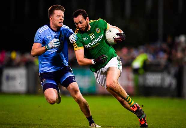 Robbie McDaid puts a stop to Graham Reilly's run