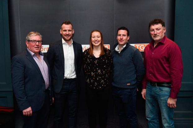 GREAT GAELS: Seamus Darby (Offaly football), Jackie Tyrrell (Kilkenny hurling), Rena Buckley (Cork football and camogie), Andrew O'Shaughnessy (Limerick hurling) and Kieran Duff (Dublin football) at yesterday's Laochra Gael launch at the Dean Hotel, Dublin. Photo: Sportsfile