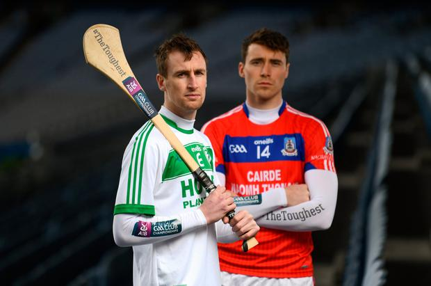 Ballyhale Shamrock's Joey Holden and St Thomas' Conor Cooney