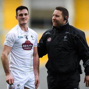 INJURY: Kildare captain Eoin Doyle (left) with manager Cian O'Neill. Photo: Eóin Noonan/Sportsfile