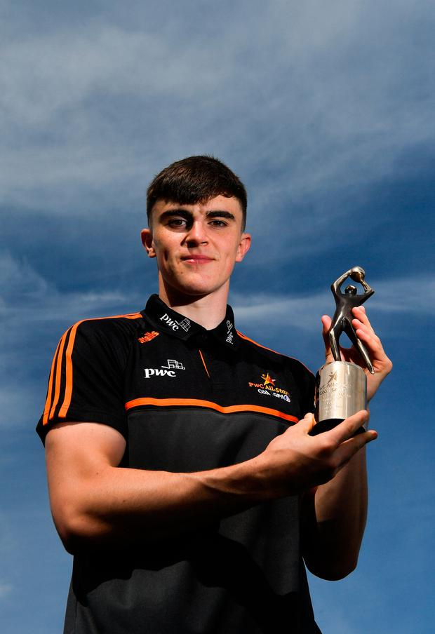 Kerry's Seán O'Shea won the PwC GAA/GPA Player of the Month award for April