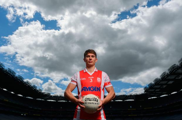 Cuala and Dublin footballer Michael Fitzsimons at today's sponsorship launch between Cuala and Amgen at Croke Park in Dublin, which is the first GAA club sponsorship to include education and employment incentives. Pic: Sportsfile