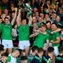 CHAMPIONS: Limerick captain Declan Hannon begins the celebrations after their Munster SHC final victory. Pic: Sportsfile