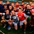 CHAMPIONS: Cuala players and supporters celebrate their Dublin SHC 'A' final victory at Parnell Park. Photo: Sportsfile