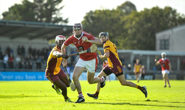 STRAIGHT THROUGH: St Brigid's Mark Kavanagh in action against Craobh Chiaráin during the Dublin SFC semi-final at Parnell Park. Photo: Sportsfile