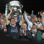 Stephen Cluxton lifts the Sam Maguire after victory over Kerry in the 2015 All-Ireland final